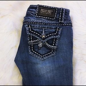 Miss Me Irene Bootcut Jeans, Distressed